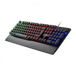 Teclado USB Xtech XTK-510S Armiger multimedia para videojuegos Fondo Multicolor