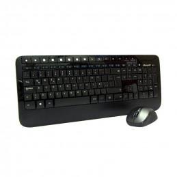 Kit Teclado y Mouse inalámbrico Microsoft Wireless Desktop 2000, Transceptor USB, Negro