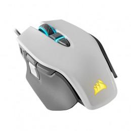 Mouse USB Corsair M65 RGB Elite FPS Gaming, 18000dpi 9 botones blanco