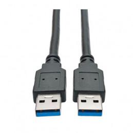 Cable USB Tripp Lite 3.0 SuperSpeed (A/A) (M/M), 28/24 AWG, 5 Gbps, USB Tipo-A a Tipo A, Negro (U320-003-BK)