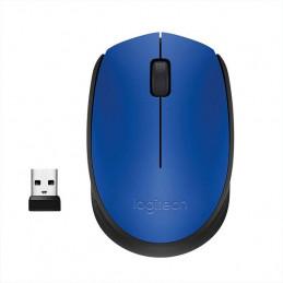 Mouse Inalambrico Logitech M185 diestro y zurdo Azul