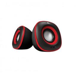 Parlante Xtech XTS-115RD Spekter multimedia 2.0 6W 3.5mm InputUSB5V Rojo