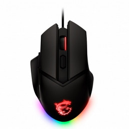 Mouse USB MSI Clutch Gm20 elite RGB 6400DPI OMRON Switches