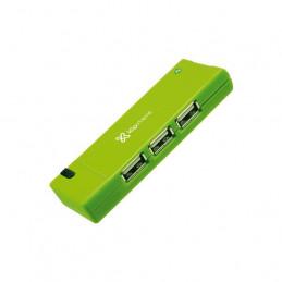 Concentrador USB Klip Xtreme KUH-400G Hub 4 x USB2.0 Verde