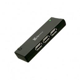 Concentrador USB Klip Xtreme KUH-400B Hub 4 x USB2.0 Negro