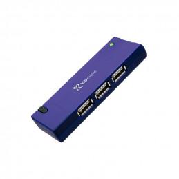 Concentrador USB Klip Xtreme KUH-400A Hub 4 x USB2.0 azul