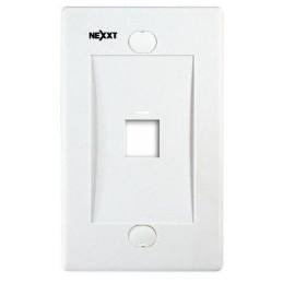 Placa de Montaje Nexxt AW160NXT01 1Port TKeystone blanco
