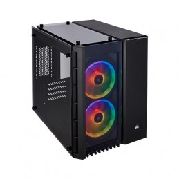 Case Gamer Corsair Crystal 280X RGB , Mid Tower, ATX, USB 3.0, Audio, Negro