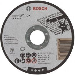 """Disco Corte Metal 4 1/2"""" 115x1.6mm Recto Expert Inox, Bosch 2608600215"""