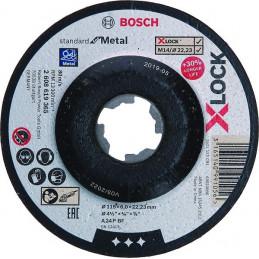 Disco de Desbaste Standard for Metal X-LOCK 115mm x6x22.23mm, Bosch 2608619365