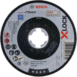 Disco de Corte Expert for Metal X-LOCK 115mm x2.5x22.23mm Centro Plano, Bosch 2608619253