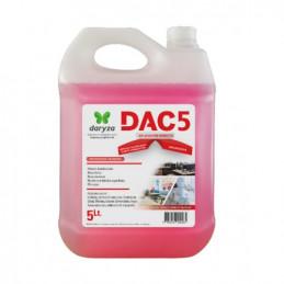 Desinfectante DAC5 5L Aplicación Directa Amonio Cuaternario, 30043 Daryza