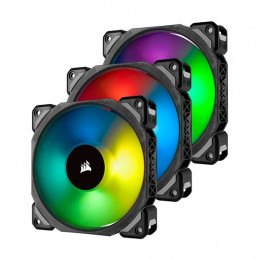 Fan Corsair ML120 Pro RGB Led, 12 cm, 1600 RPM, 13.2 VDC, 4 pines, PWM Control
