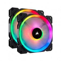 Fan Corsair LL140 RGB, 14 cm, 1300 RPM, 13.2 VDC, 4 pines, PWM Control