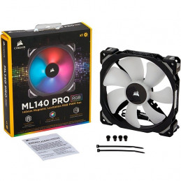 Fan Corsair ML140 Pro RGB Led, 14 cm, 1200 RPM, 13.2 VDC, 4 pines, PWM Control