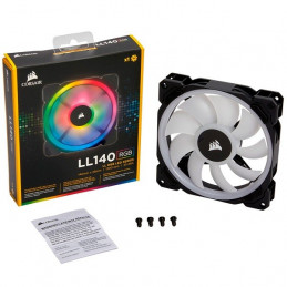 Fan Corsair Series LL140 RGB Dual Led, 14 cm, 1 600 RPM, 12VDC, 4pines
