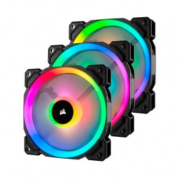 Fan Corsair LL120 RGB, 12 cm, 1500 RPM, 13.2 VDC, 4 pines, PWM Control