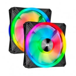 Fan Corsair Dual QL140 RGB, 14cm, 550 - 1250 ±10% RPM, 6V - 13.2V, PWM Control