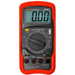 Multimetro Digital Prasek PR-85, AC750V DC100V 20A Resistencia Capacitancia Temp Transistor Diodo Continuidad