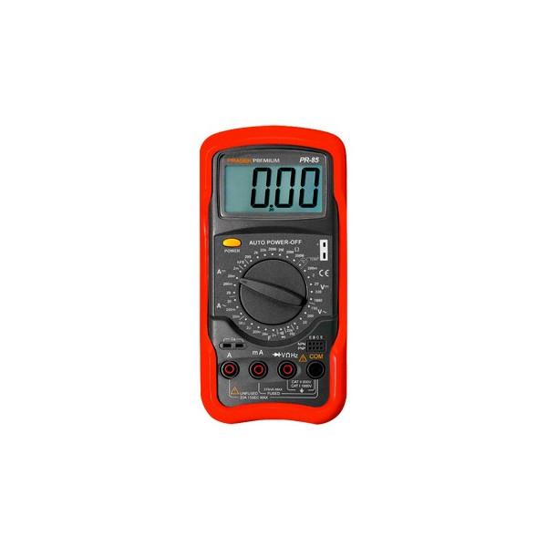 Multimetro Digital Prasek Premium PR-85, AC750V DC100V 20A Resistencia Capacitancia Temp Transistor Diodo Continuidad