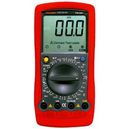 Multitester Digital Prasek PR-58C, ACDC 750V 1000V 20A Voltaje Resistencia Capacitancia Diodo Temp Continuidad