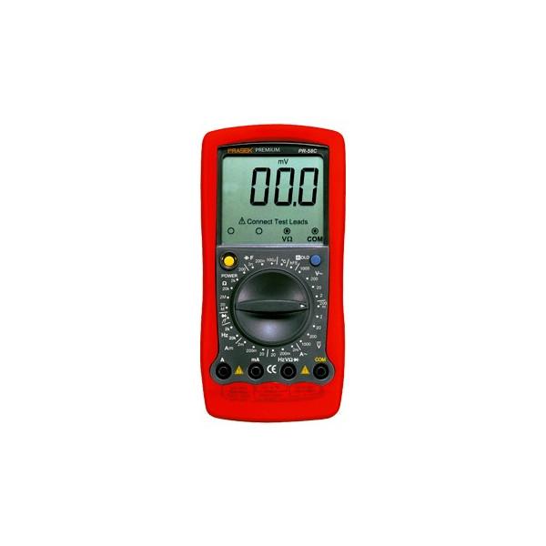 Multitester Digital Prasek Premium PR-58C, ACDC 750V 1000V 20A Voltaje Resistencia Capacitancia Diodo Temp Continuidad