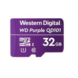 Memoria Flash WD Purple 32GB SC QD101 microSD, ideal para Camaras de videovigilancia