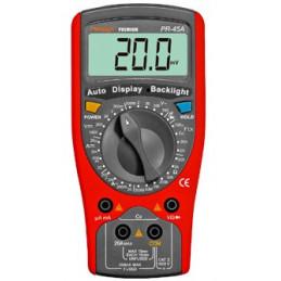 Multitester Digital Prasek Premium PR-45A, DC1000V AC750V Resistencia Capacitancia diodo Temp y Continuidad