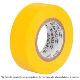 Cinta Aislantes Amarillo 18m x 19 mm, Adhesivo acrilico Espesor 0.18mm, Flexible Encogible, M-33A 12503 Truper