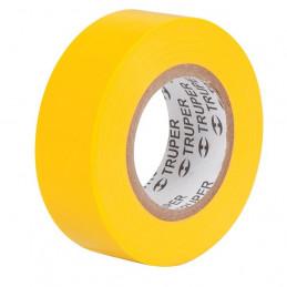 Cinta Aislantes Amarillo 9m x 19 mm, Adhesivo acrilico Espesor 0.18mm, Flexible Encogible, M-22A 13512 Truper
