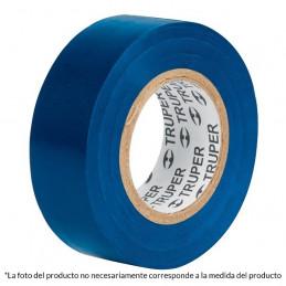 Cinta Aislantes Azul 18m x 19 mm, Adhesivo acrilico Espesor 0.18mm, Flexible Encogible, M-33Z 12505 Truper