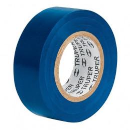 Cinta Aislantes Azul 9m x 19 mm, Adhesivo acrilico Espesor 0.18mm, Flexible Encogible, M-22Z 13514 Truper
