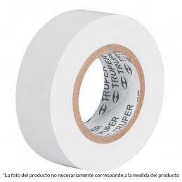 Cinta Aislantes Blanco 18m x 19 mm, Adhesivo acrilico Espesor 0.18mm, Flexible Encogible, M-33B 12506 Truper