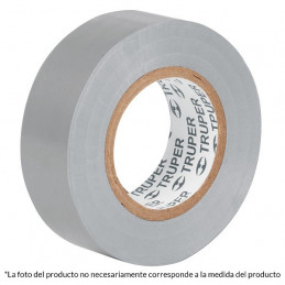 Cinta Aislantes Gris 9m x 19 mm, Adhesivo acrilico Espesor 0.18mm, Flexible Encogible, M-22G 13516 Truper