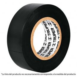 Cinta Aislantes Negro 18m x 19 mm, Adhesivo acrilico Espesor 0.18mm, Flexible Encogible, M-33 12500 Truper
