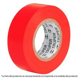 Cinta Aislantes Rojo 18m x 19 mm, Adhesivo acrilico Espesor 0.18mm, Flexible Encogible, M-33R 12504 Truper