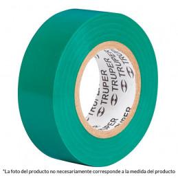 Cinta Aislantes Verde 9m x 19 mm, Adhesivo acrilico Espesor 0.18mm, Flexible Encogible, M-22V 13511 Truper