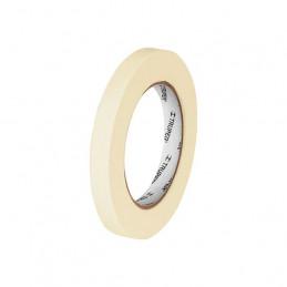 Cinta Masking Tape, 50m Ancho 12mm Espesor 0.13mm, Papel de Alta Resistencia, MSK-1/2 12589 Truper