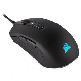 Mouse óptico Gamer Corsair M55 RGB Pro, 12 400 dpi, USB, 8 botones, Negro