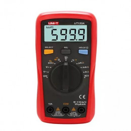 Multimetro Digital UNI-T UT-133A Autorango NCV ACDC600V 10A Resistencia Capacitancia Frec Temp