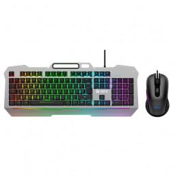 Combo Gaming Teclado y Mouse Teros TE-4144N, Retro-Iluminado, USB, Español, Óptico.