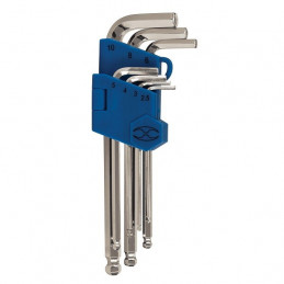 Juego de 7 Llaves Allen ExtraLargas Milimetricas con Organizador, Acero al Cromo Vanadio Satinado, ALLX-7M 15548 Truper