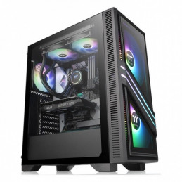 Case Thermaltake Versa T35 600W Tempered Glass RGB Mid-Tower Chassis CA-3R7-60M1WU-00