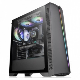 Case Thermaltake H350 600W Tempered Glass RGB Mid-Tower Chassis CA-3R9-60M1WU-00