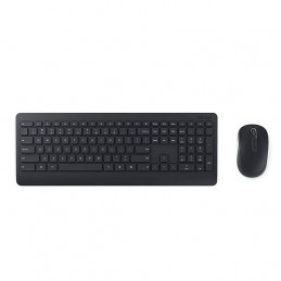 Kit Teclado Mouse Inalambrico Microsoft Wireless Desktop 900 en español, Color Negro, Retail