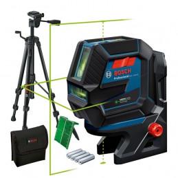 Nivel de Lineas Laser Combinados GCL 2-50G 2Lineas 2puntos Verde con Tripode, Bosch 0601066M01