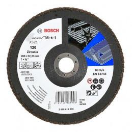 Disco Flap ECO 180mm Gr120, para Inox/Metal Bosch 2608619295