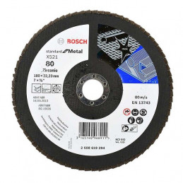 Disco Flap ECO 180mm Gr80, para Inox/Metal, Bosch 2608619294