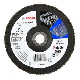 Disco Flap ECO 180mm Gr40 para Inox/Metal, Bosch 2608619292
