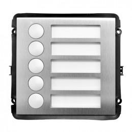 Botonera Villa OutDoor VDP IP 6Botones Stainless steel panel, IP54,IK07, Dahua VTO2000A-B5